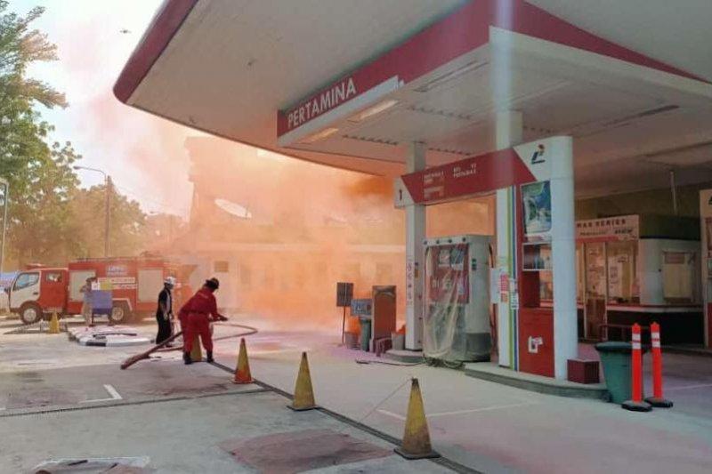Latihan simulasi kebakaran di SPBU, Pertamina asah kesigapan dalam situasi darurat