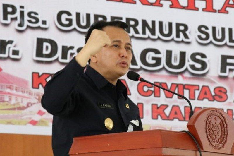 Gubernur Fatoni  gugah spirit Pancasila praja IPDN Kampus Sulut