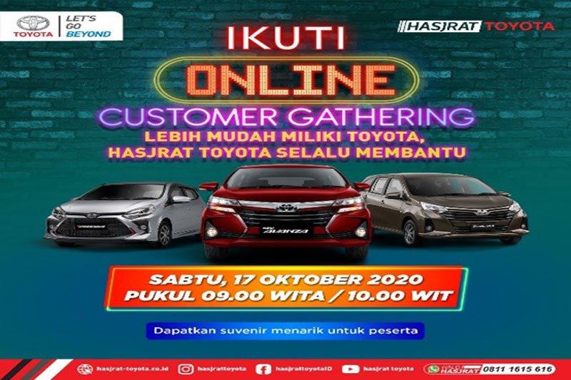 Online Customer Gathering serentak di seluruh cabang Hasjrat Toyota
