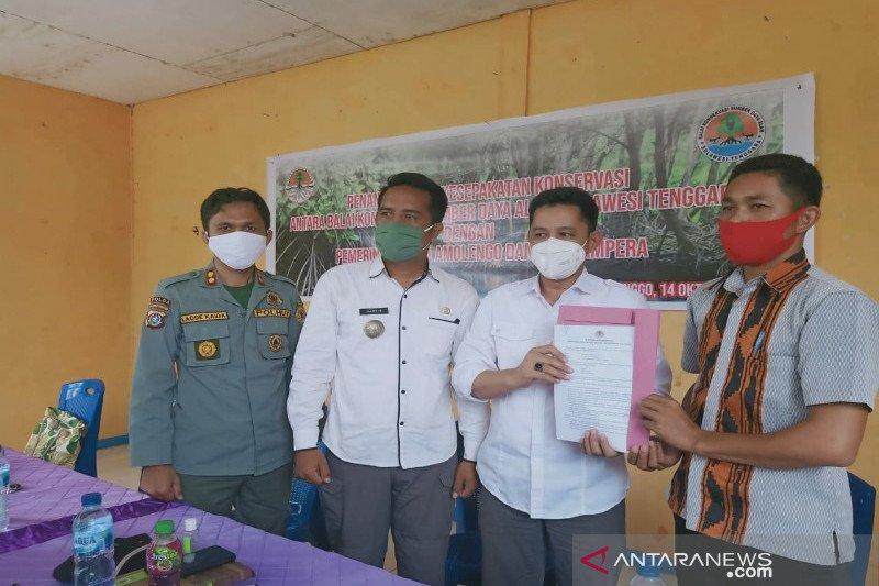 BKSDA Sultra tandatangani dua kawasan konservasi di Kolono Timur