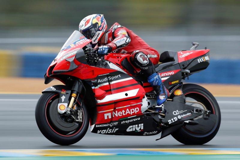 Andrea Dovizioso sebut angin kencang ganggu penampilan Ducati di MotoGP Aragon