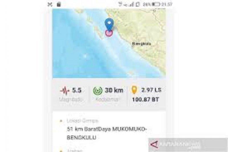 Mukomuko kembali diguncang gempa M5,3