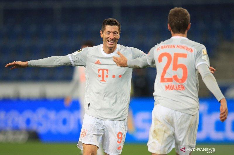 Mueller, Lewandowski ukir dua gol saat Bayern taklukanl Arminia 4-1