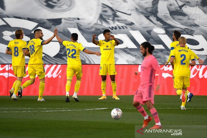 Real Madrid dipermalukan tim promosi Cadiz 0-1