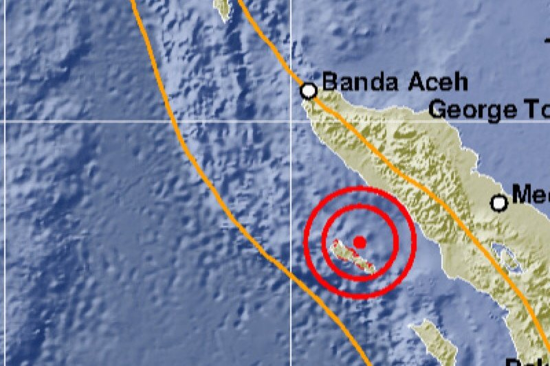 Simeulue Aceh diguncang gempa magnitudo 5,4 tapi tak berpotensi tsunami