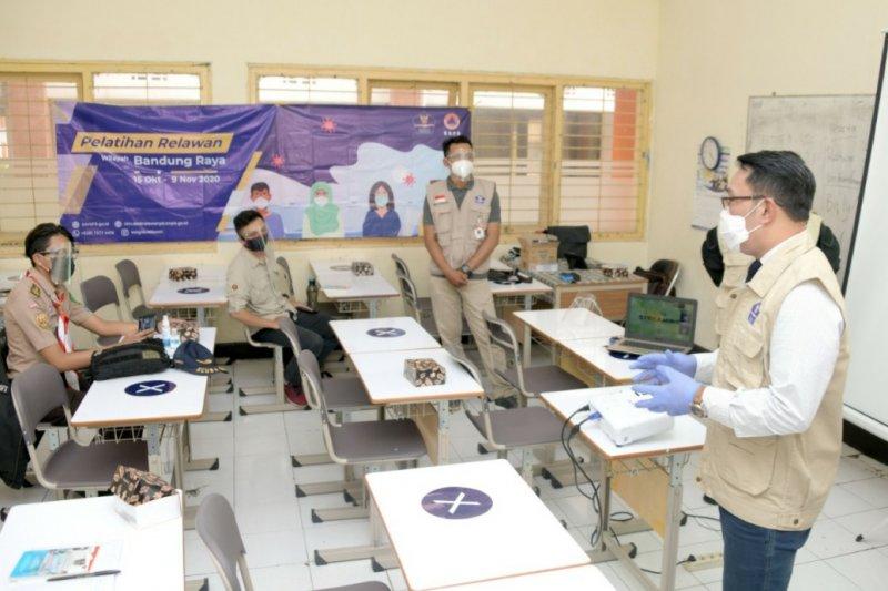 3.000 relawan COVID-19 Jabar diberikan pelatihan protokol kesehatan 3M