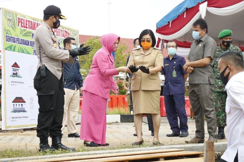 Pembangunan gedung SPKT Polres Gumas senilai Rp2,7 miliar dimulai