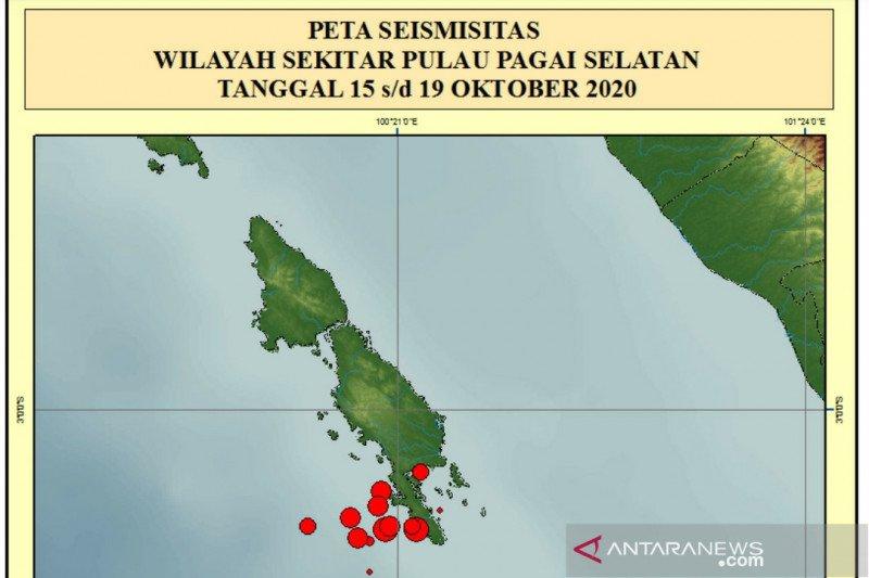 Gempa 5,7 M Kepulauan Mentawai warga Tupejat siaga di gereja Paniel
