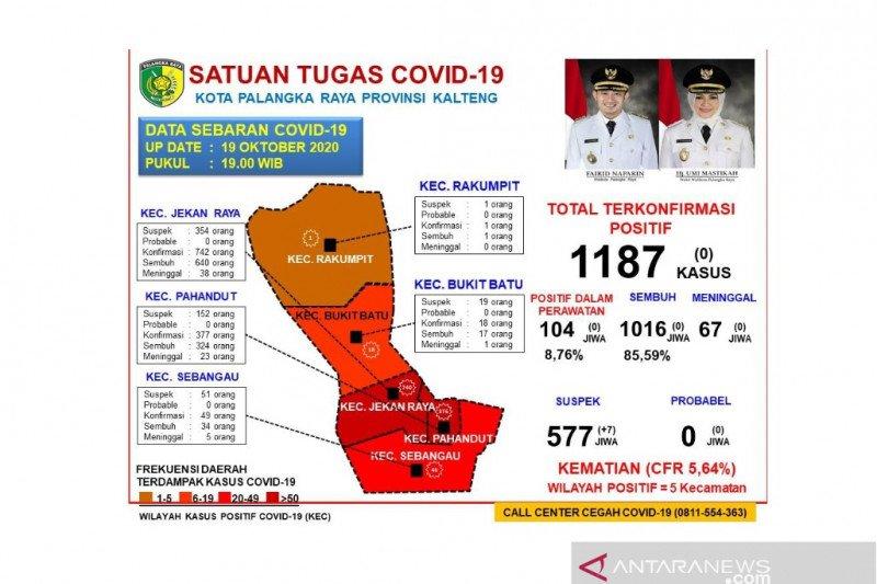 Kasus COVID-19 di Palangka Raya tak ada penambahan