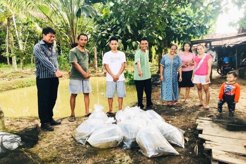 PT Maju Aneka Sawit berikan bantuan ikan lele untuk masyarakat