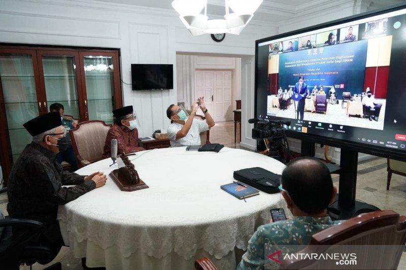 Maruf Amin: PEN dan UU Ciptaker bukti keberpihakan Pemerintah pada UMKM