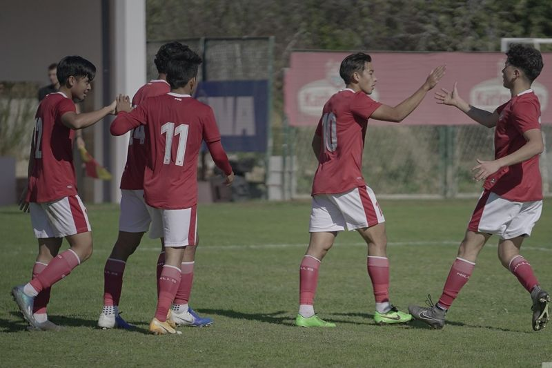 Pemain Timnas U-19 kembali tiba di Indonesia Selasa malam