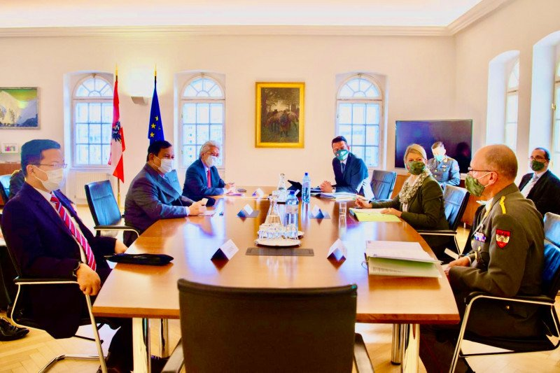 Prabowo Subianto berkunjung ke Austria