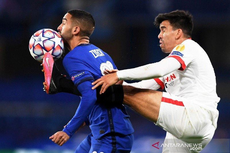 Chelsea dan Sevilla main imbang pada laga pembuka Grup E