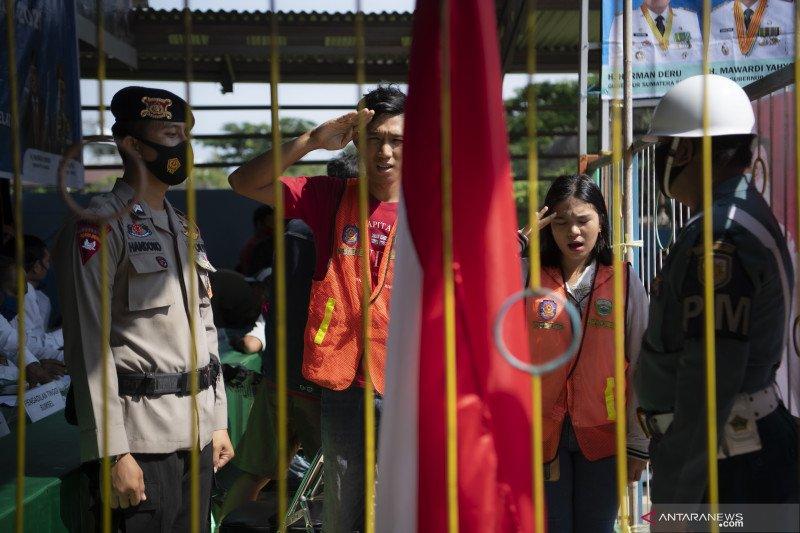 Razia Masker Di Perbatasan Palembang