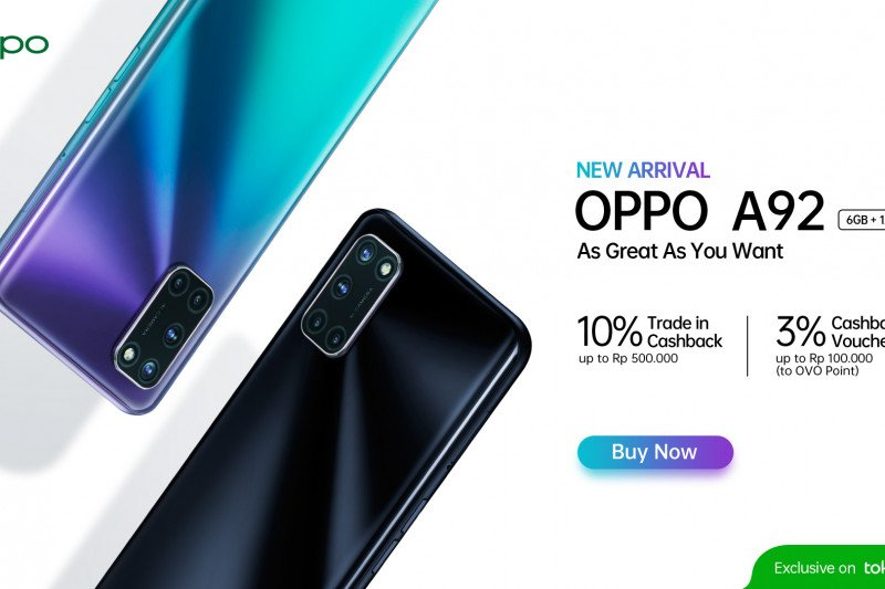 OPPO hadirkan ponsel varian A92 6GB