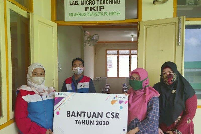 Pertamina bantu penambahan fasilitas Laboratorium Bahasa Universitas Taman Siswa Palembang