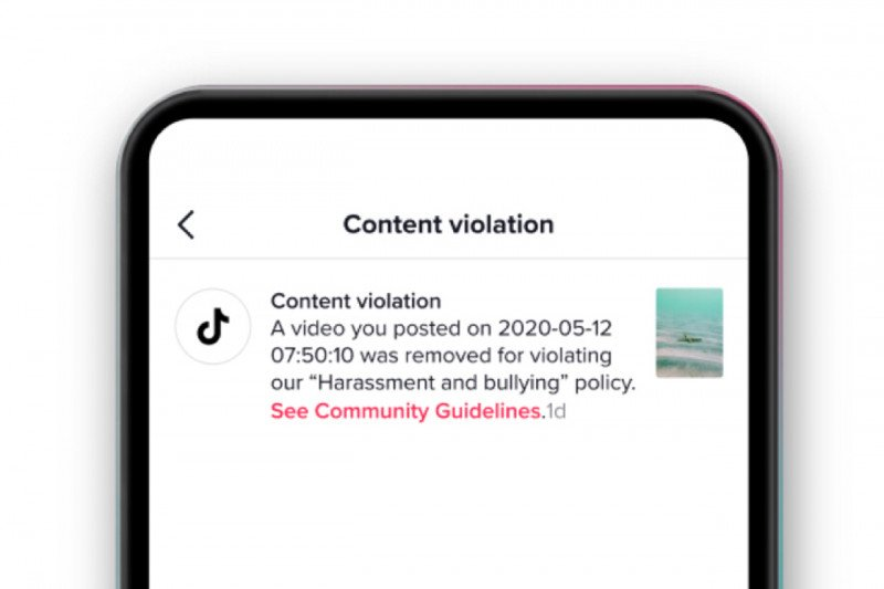 TikTok beri tahu alasan video pengguna dihapus