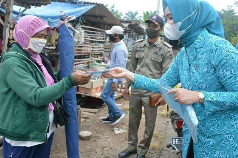 """PKK Lamteng """"gebrak"""" masker di sembilan kecamatan"""