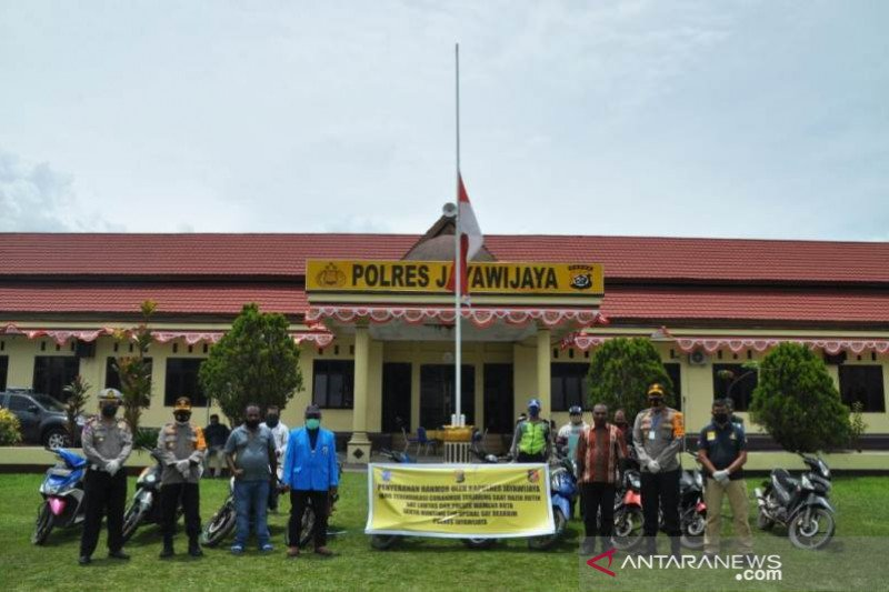 Polres Jayawijaya kembalikan lagi 10 sepeda motor curian