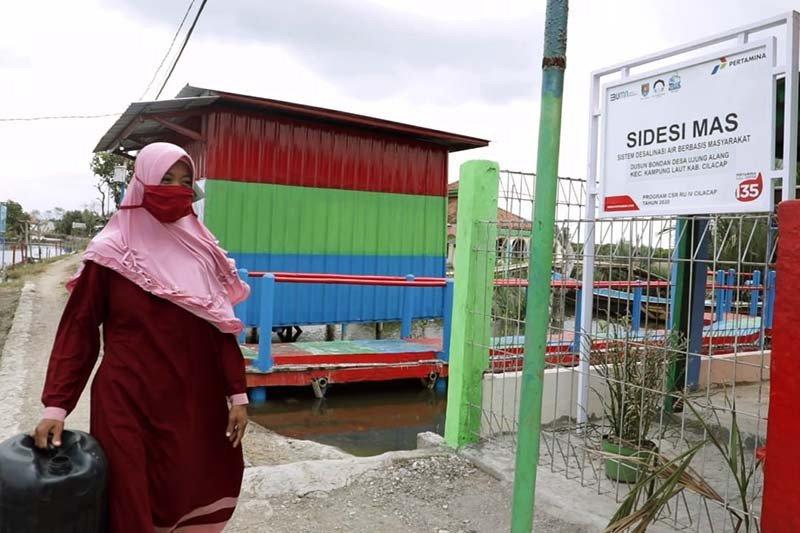 Fasilitas desalinasi air dari Pertamina ringankan warga dusun terpencil di Cilacap