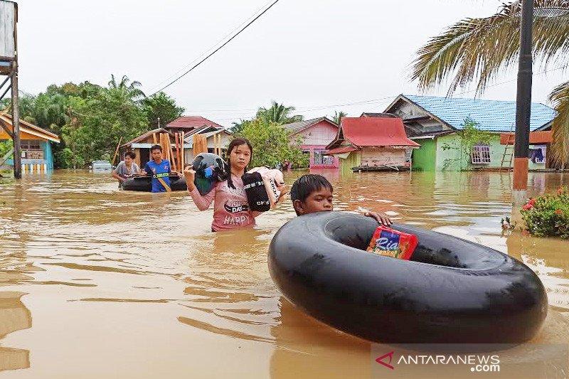Puluhan rumah di Muara Teweh Barito Utara terendam banjir