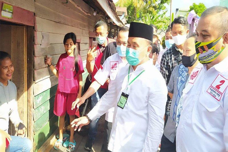 Sapa masyarakat, Sugianto blusukan ke gang-gang di Palangka Raya