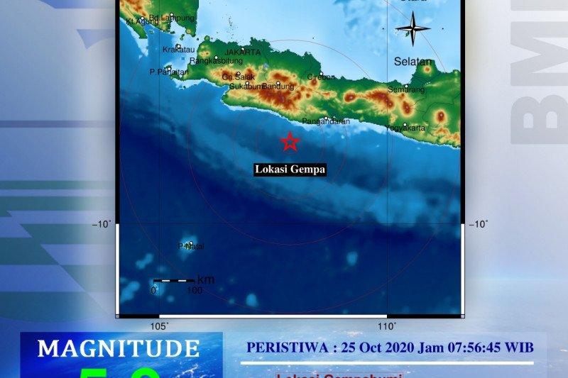 Gempa di laut Pangandaran kejutkan warga Sukabumi