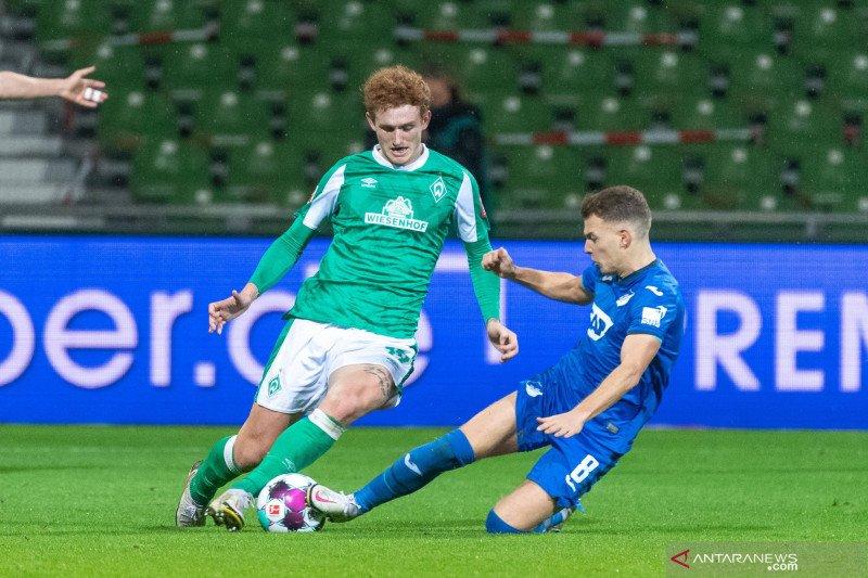Bremen kembali gagal menang setelah ditahan imbang Hoffenheim skor 1-1