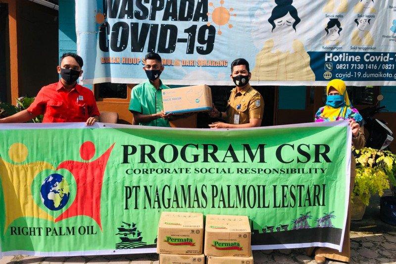 PT Nagamas Dumai salurkan bantuan hadapi pandemi COVID-19