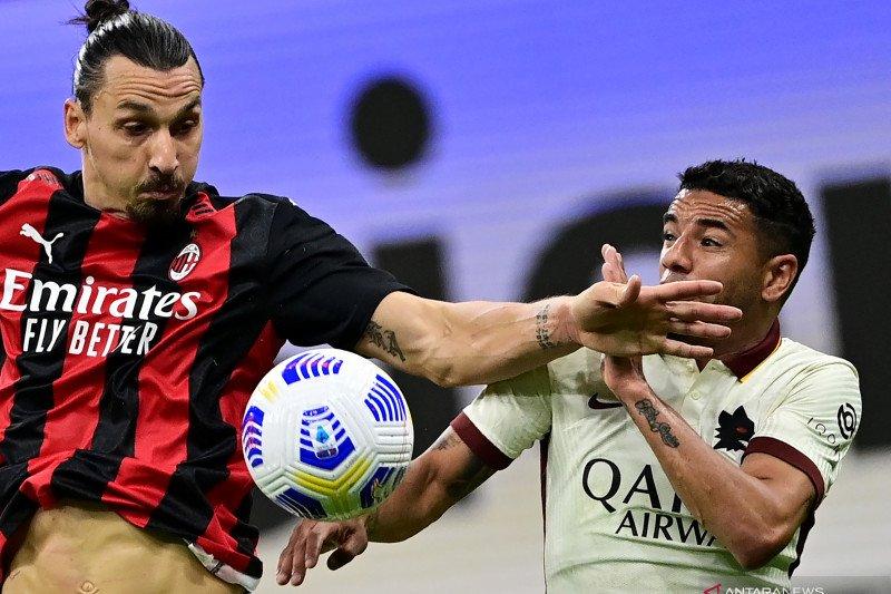 Laju positif AC Milan dihentikan AS Roma lewat drama enam gol