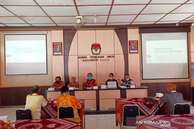 KPU Bantul menggelar debat publik pilkada sesuai protokol kesehatan