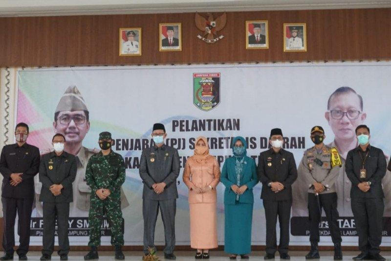 Penjabat Bupati Lampung Timur Fredy lantik Tarmizi sebagai Pj Sekdakab