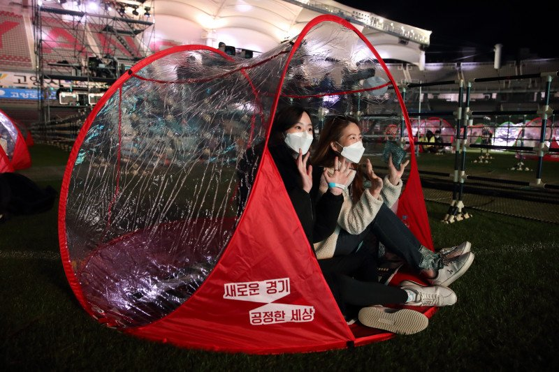 "Konser K-pop ""DMZ Concert"" di Korea saat pandemi"
