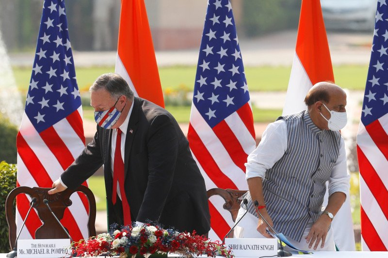 Pompeo: AS dan India  fokus hadapi ancaman China