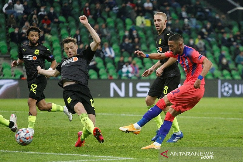 Ziyech cetak gol perdana bawa Chelsea tundukkan Krasnodar 4-0