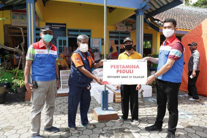 Pertamina Peduli bantu korban banjir di Gentasari Cilacap