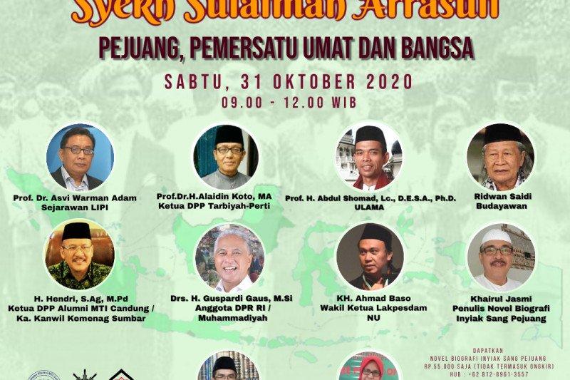 Webinar Nasional Syekh Sulaiman Arrasuli Pejuang Dan Pemersatu Umat Dan Bangsa Pendaftaran Gratis Antara Sumbar