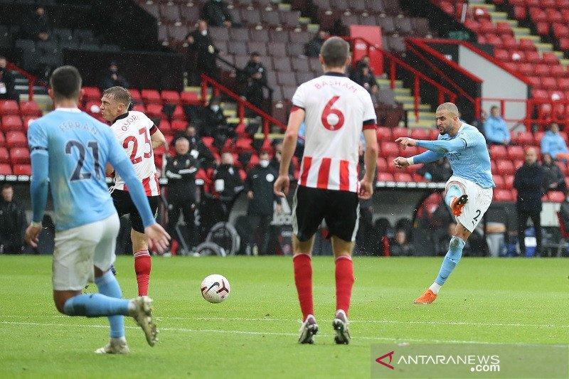 Manchester City mengatasi Sheffield United 1-0
