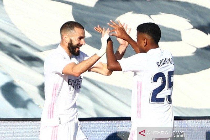Real Madrid ambil alih posisi puncak usai menang telak