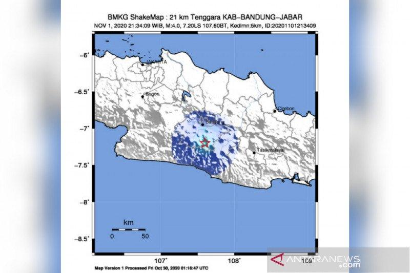 Bandung diguncang gempa berkekuatan 4 magnitudo