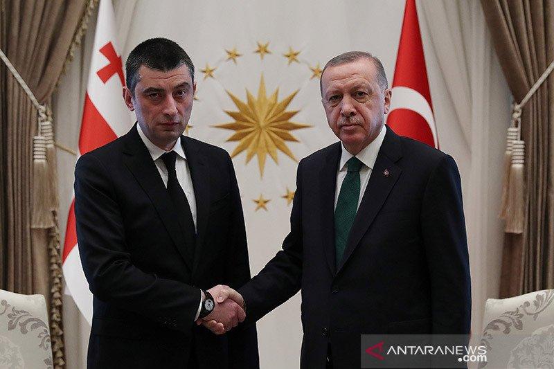 Polisi Georgia serbu kantor partai oposisi dan tahan pemimpinnya