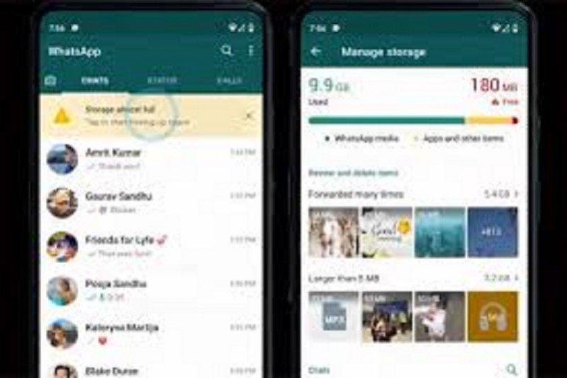 WhatsApp permudah kelola penyimpanan agar memori tak cepat penuh