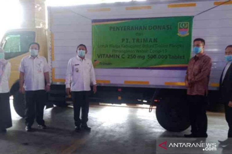 Pemkab Bekasi terima bantuan 500.000 tablet vitamin C