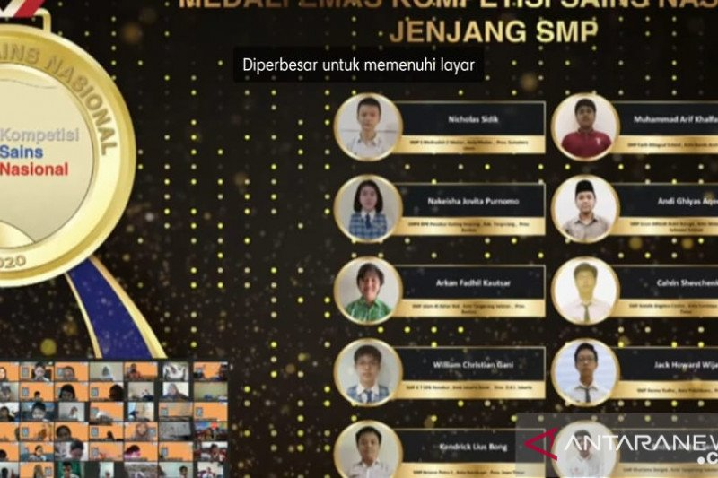 Dua Siswa SMP Athirah Makassar sabet medali Kompetisi Sains Nasional