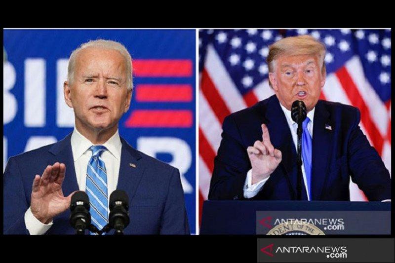 Biden merasa terhormat telah terpilih, Trump sebut pilpres belum selesai