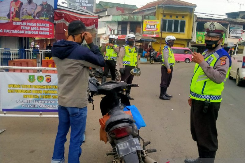 Operasi pengawasan protokol kesehatan di Sukabumi diperpanjang waktunya