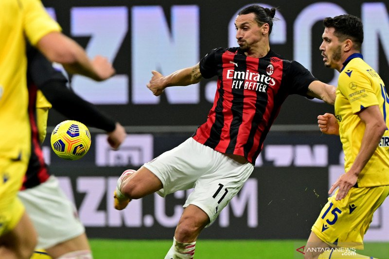 Milan bermain imbang dengan Verona