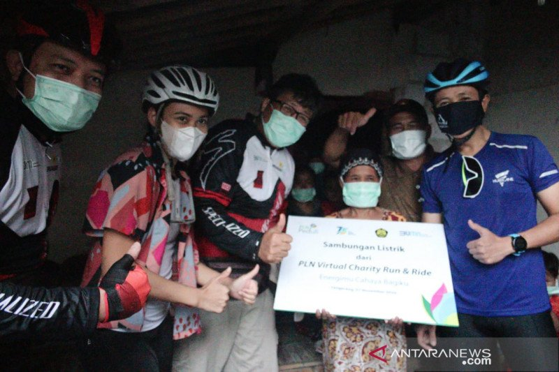 PLN virtual charity run and ride kumpulkan Rp6,16 miliar, penyambung listrik keluarga tak mampu