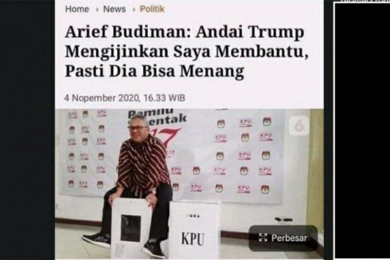 Ternyata hoaks, Arief Budiman katakan bisa memenangkan Trump